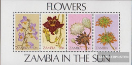 Sambia Block12 (complete.issue.) Unmounted Mint / Never Hinged 1983 Flowers - Zambia (1965-...)