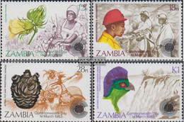 Sambia 286-289 (complete.issue.) Unmounted Mint / Never Hinged 1983 Commonwealth-Day - Zambia (1965-...)
