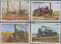 Sambia 282-285 (complete.issue.) Unmounted Mint / Never Hinged 1983 Steam Engines - Zambia (1965-...)