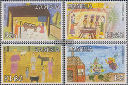 Sambia 369-372 (complete Issue) Unmounted Mint / Never Hinged 1986 Christmas - Zambia (1965-...)