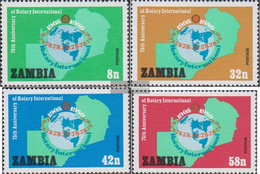 Sambia 217-220 (complete.issue.) Unmounted Mint / Never Hinged 1980 Rotary International - Zambia (1965-...)