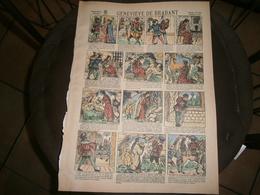 ANCIENNE PLANCHE  GENEVIEVE DE BRABANT N 504 CONTES DES FEES   IMAGERIES REUNIES DE JARVILLE NANCY VERS 1890/1900 - Old Paper