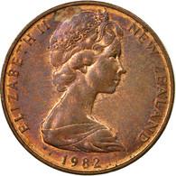 Monnaie, Nouvelle-Zélande, Elizabeth II, 2 Cents, 1982, TTB, Bronze, KM:32.1 - Monnaie Décimale (1966-...)