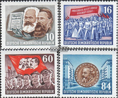 DDR 392A-395A (recognizable On Watermark Y) Unmounted Mint / Never Hinged 1953 Karl-Marx-Year - Nuevos