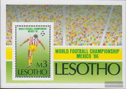 Lesotho Block31 (complete.issue.) Unmounted Mint / Never Hinged 1986 Football WM Mexico - Lesotho (1966-...)