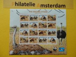Botswana 1995, WWF FAUNA HYENA: Mi 586-89, ** KB - W.W.F.