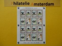 Tchad 1996, WWF FAUNA BIRDS OSTRICH: Mi 1370-73, ** KB - W.W.F.