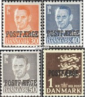 Denmark PA31-PA34 (complete Issue) Unmounted Mint / Never Hinged 1949 Package Marks - Pacchi Postali