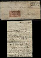 S6900 - NDP Paar Auf Braunschweig Briefumschlag: Gebraucht Rübeland - Braunschweig 1871 , Bedarfserhaltung Mit Inhalt - Braunschweig