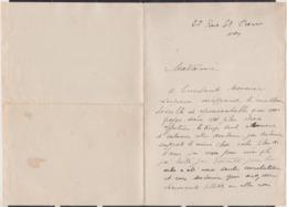 Autographe De Louis Guilloux Sur Lettre Manuscrite - Autografi