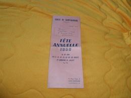 DEPLIANT ANCIEN DE 1958. / PROGRAMME DES FETES. CERCLE DE SAINT BARNABE. / MARSEILLE.../ FETE ANNUELLE 1958... - Programmi