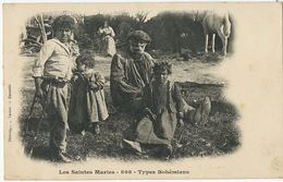 Types Bohemiens Tziganes Romanichels Gypsies Saintes Maries De La Mer - Europe