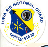 IOWA-AIR-NATIONAL-GUARD-174TH TACTICAL FIGHTER SQUADRON-STICKER-AUTOCOLLANT-ORIGINAL-RARE-NOT USED-PERFECT CONDITION ! - Aviation