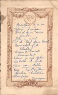 MENU De REVEILLON Du 31 Décembre 1944 - A Voir ! - Menus