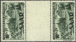 Saar 263 Between Steg Couple Unmounted Mint / Never Hinged 1949 Hostel - 1947-56 Protectorate