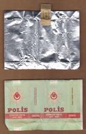 AC- POLIS CIGARETTE 1845 - 1983 138th ANNIVERSARY ON DUTY VINTAGE CIGARETTE BOX COVERING PAPER FOR COLLECTION FROM TURKE - Empty Cigarettes Boxes