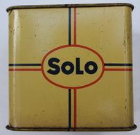 BOITE METAL  BLIKKEN DOOS - MAGARINE SOLO - SPAARPOT - MERXEM 8X8 CM CM  - LOOK  SCANS - Boxes