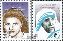 Makedonien 74-75 (complete Issue) Unmounted Mint / Never Hinged 1996 Women - Macedonia