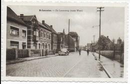 St-Laureins. De Leemweg (naar West). - Sint-Laureins