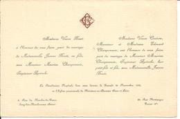 92 ISSY-les-MOULINEAUX Et PARIS 8e - Faire-Part De Mariage Entre Maurice CHAMPONNOIS Et Jeanne BOUTI - 20 Novembre 1926 - Annunci Di Nozze