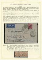 Birma / Burma / Myanmar: 1936/1939 + 1954: Seven Covers (including Two Postal Stationaries) Originat - Myanmar (Burma 1948-...)