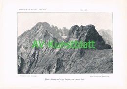 064-2 Korsika Corse Punta Minuta Larghia Kunstblatt 1901!! - Ohne Zuordnung