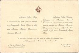 92 ISSY-les-MOULINEAUX Et PARIS 8e - Faire-Part De Mariage Entre Maurice CHAMPONNOIS Et Jeanne BOUTI - 20 Novembre 1926 - Wedding