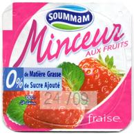 "Opercule Cover Yaourt Yogurt "" Soummam "" MINCEUR Fraise Strawberry Yoghurt Yoghourt Yahourt Yogourt - Opercules De Lait"