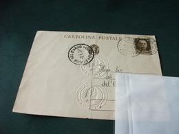 CARTOLINA POSTALE ITALIANA REGNO PIEGA CENTRALE COMUNE DI FIGLINE VALDARNO 1937 - Cartoline