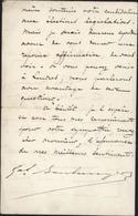 Lettre De Londres Autographe 1889 Général Georges Boulanger Politicien 1837 à 91 Coup D'état Ministre Guerre Boulangisme - Autografi
