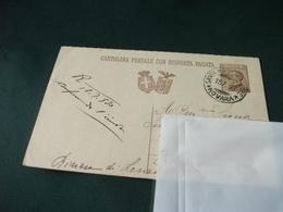 CARTOLINA POSTALE ITALIANA REGNO RISPOSTA PAGATA SANTA MARIA MAGGIORE NOVARA 1930 - Cartoline