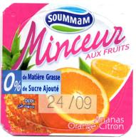 "Opercule Cover Yaourt Yogurt "" Soummam "" MINCEUR Orange Lemon Yoghurt Yoghourt Yahourt Yogourt - Opercules De Lait"
