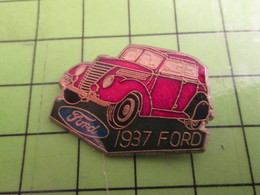 210B Pin's Pins / Beau Et Rare : Thème AUTOMOBILES / VOITURE FORD ROUGE 1937 - Ford