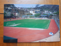 Andorra La Vella Comunal Stadium Cartolina Stadio Postcard Stadion AK Carte Postale Stade Estadio - Calcio
