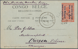 Ruanda-Urundi - Belgische Besetzung Deutsch-Ostafrika: 1917-21, Collection Of 90 Postal Stationery P - Ruanda-Urundi