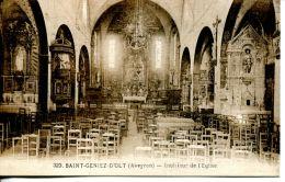 N°1796 A -cpa Saint Geniez D'Olt -intérieur église- - Autres Communes
