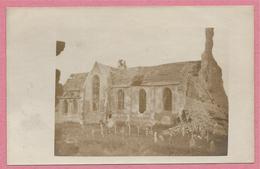 West-Vlaanderen - Flandre Occidentale - Carte Photo - Foto - WOUMEN - DIKSMUIDE - Kirche - Eglise - Guerre 14/18 - Diksmuide