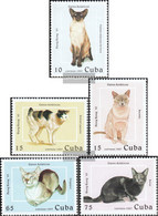 Cuba 3988-3992 (complete Issue) Unmounted Mint / Never Hinged 1997 Asian Cat Breeds - Cuba