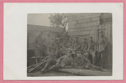 West-Vlaanderen - Flandre Occidentale - Carte Photo - Foto - WOUMEN - DIKSMUIDE - Soldats Allemands - Guerre 14/18 - Diksmuide