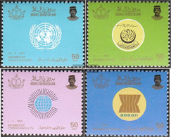 Brunei 310-313 (complete.issue.) Unmounted Mint / Never Hinged 1985 International Organizations - Brunei (1984-...)