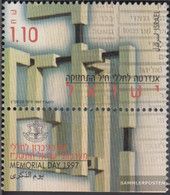 Israel 1422 With Tab (complete Issue) Unmounted Mint / Never Hinged 1997 Fallen-Commemoration - Israel