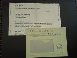 DDR Brieftelegramm 1989 Aus Dem PALAST DER REPUBLIK - DDR