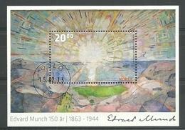 Norway 2013 Edvard Munch 1580th Anniv. S/S  Y.T. BF 45 (0) - Blocks & Kleinbögen