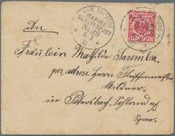 Deutsche Schiffspost - Marine: 1898/1913, MSP Meist SMS Hansa, Hertha Oder Fürst Bismarck Aus Ostasi - Deutschland