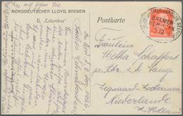 Deutsche Schiffspost Im Ausland - Seepost: 1920/1945, Partie Von über 80 Belegen Mit Vielen Interess - Deutschland