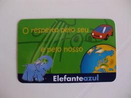 Elephant Elefante Azul Portugal Portuguese Pocket Calendar 2009 - Calendari