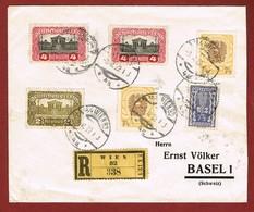 Infla Ab 1 Dez 1921 Ausland Brief Wien - Basel Reco 2. Portostufe 2 Scan - Briefe U. Dokumente