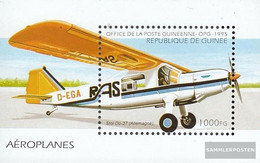 Guinea Block496 (complete.issue.) Unmounted Mint / Never Hinged 1995 Aircraft - Guinea (1958-...)