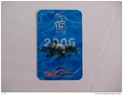 Zoomarine Dolphin Dauphin Golfinho Portugal Portuguese Pocket Calendar 2006 - Calendari