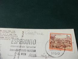 STORIA POSTALE  ANNULLO ESPERANTO AUSTRIA  VIENNA CASTELLO SCHONBRUNN - Esperanto